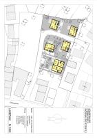 Überplant mit vier freistehenden Einfamilienhäusern sowie zwei Doppelhaushälften